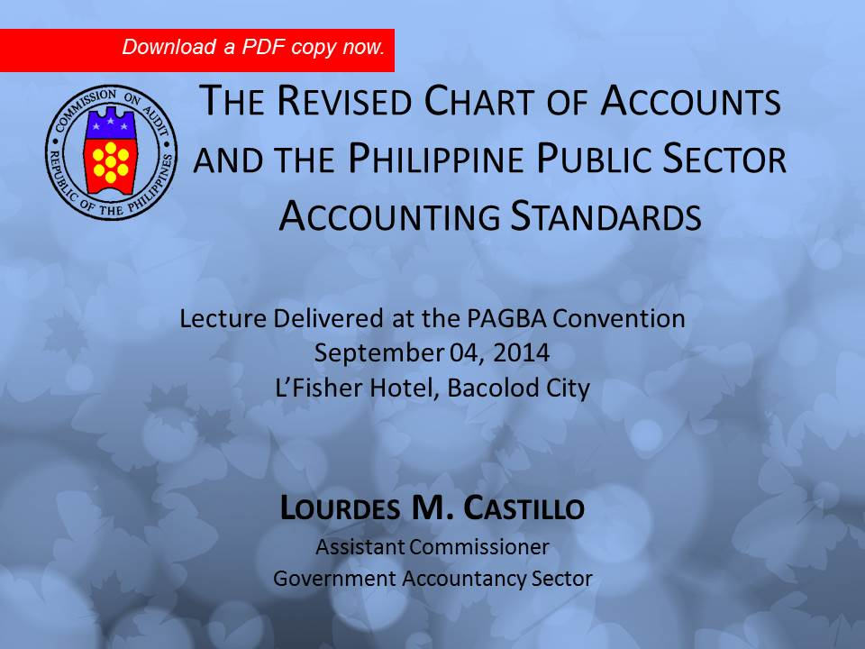 Revised Chart Of Accounts Pagba