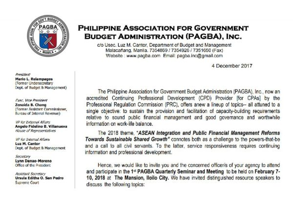 Pagba official website of the philippine association for invitation to the 2018 1st quarterly seminar stopboris Images